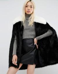 Кейп из искусственного меха Unreal Fur Majestic - Черный