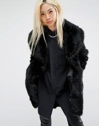 Шуба из искусственного меха Unreal Fur Elixir - Черный