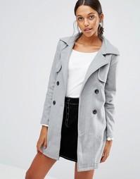 Пальто с поясом Love & Other Things - Серый