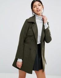 Пальто с поясом Love & Other Things - Зеленый