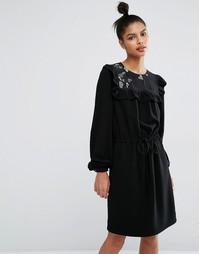 Платье из крепа Sonia By Sonia Rykiel See Through Heart - Черный