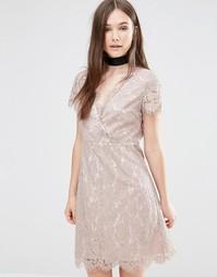 Кружевное платье Darling Ambar - Бежевый