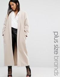 Пальто макси Missguided Plus - Бежевый