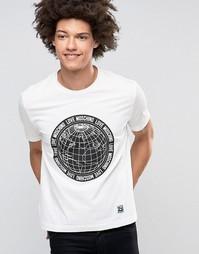 Футболка с принтом мира Love Moschino - Белый