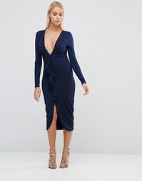 Платье-футляр с длинными рукавами Hedonia - Темно-синий