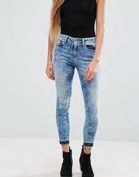 Крашеные укороченные джинсы скинни Only Ultimate - Синий