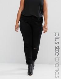 Рваные джинсы Elvi Plus - Черный