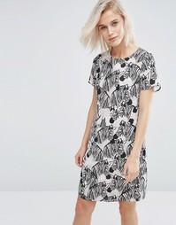 Платье-туника с принтом в зебру Sugarhill Boutique Lara - Черный