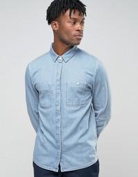 Голубая рубашка с карманом на груди Bethnals Steve - Синий