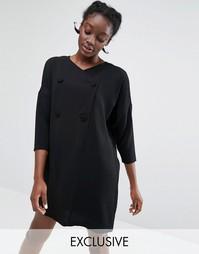 Платье-блейзер эксклюзивно для Monki - Черный