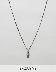 Ожерелье с подвесками в виде перышка и якоря Simon Carter эксклюзивно для ASOS - Серебряный