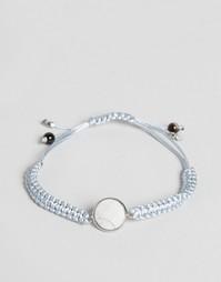 Серый плетеный браслет с монетой DesignB London - Серый