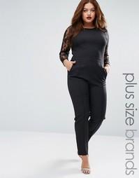 Комбинезон с кружевными рукавами Praslin Plus - Черный