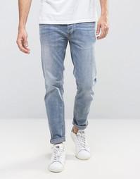 Зауженные выбеленные джинсы Burton Menswear - Синий