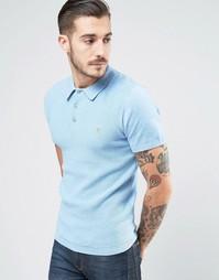 Трикотажная футболка-поло с короткими рукавами Farah Sutton - Синий