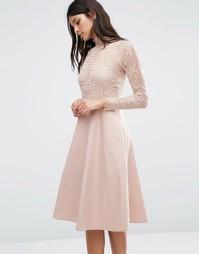 Платье Y.A.S Pretty - Розовый