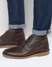 Кожаные утепленные ботинки Selected Homme New Royce - Черный