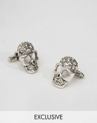 Запонки в форме черепов DesignB - Серебряный