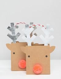 Маленькие подарочные пакеты с оленями Meri Meri - Мульти