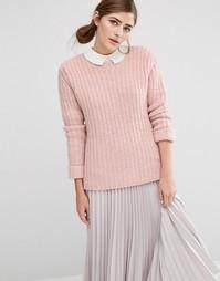 Oversize-джемпер крупной вязки Fashion Union - Розовый
