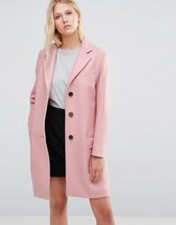 Розовое пальто Gloverall Chesterfield - Розовый