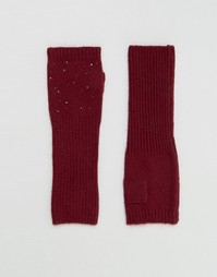 Длинные митенки с заклепками Alice Hannah - Красный