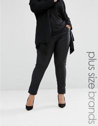 Вощеные джинсы Elvi Plus - Черный
