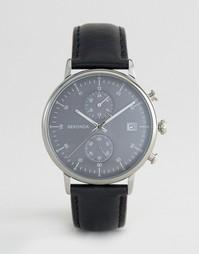 Часы с черным кожаным ремешком и хронографом Sekonda 1193 - Черный