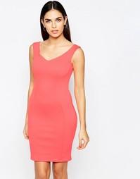 Облегающее платье Lipsy Scuba - Оранжевый