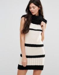 Платье-джемпер с отворачивающимся воротником Lavand - Белый