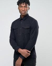 Рубашка навыпуск узкого кроя Jack & Jones Premium - Черный