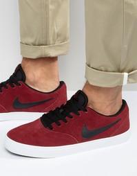 Красные кроссовки Nike SB Check Solar 843895-600 - Красный