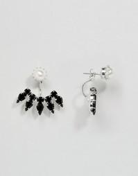 Серьги-подвески с кристаллами Swarovski Krystal Roxanne - Черный