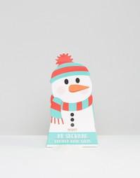 Соли для ванны в упаковке в виде снеговика - Бесцветный Beauty Extras