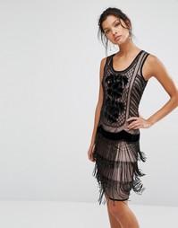 Платье-чарльстон с отделкой Frock and Frill - Черный