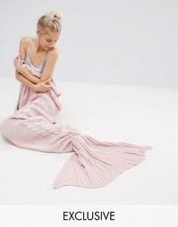 Одеяло в виде русалки Club L - Розовый