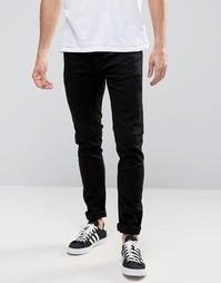 Черные супероблегающие джинсы Burton Menswear - Черный
