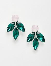 Серьги с кристаллами Swarovski Krystal - Мульти