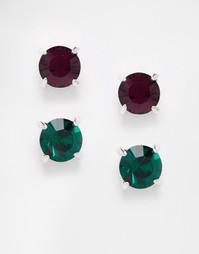 Серьги-гвоздики с кристаллами Swarovski Krystal - Мульти
