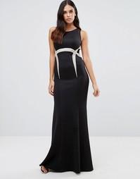 Платье макси с отделкой на талии Forever Unique Olympia - Черный
