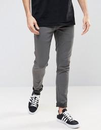 Черные выбеленные зауженные джинсы стретч !SOLID - Черный