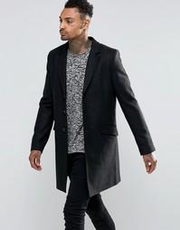 Пальто из смешанной шерсти Troy - Черный