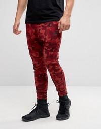 Красные камуфляжные джоггеры из флиса Nike 823499-674 - Красный