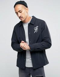 Черная тренерская куртка с логотипом Nike SB 823588-010 - Черный