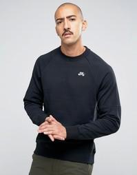 Черный свитшот с круглым вырезом Nike SB Everett 846884-010 - Черный