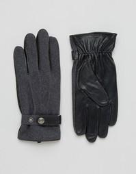Перчатки из шерсти и кожи Dents Guilford - Серый