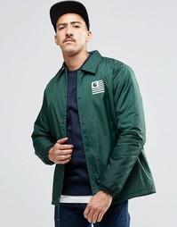 Спортивная куртка с подкладкой Borg от Carhartt WIP State - Зеленый