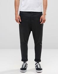 Черные джинсы с заниженным шаговым швом ASOS - Черный