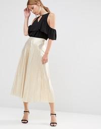 Плиссированная юбка Liquorish - Серый