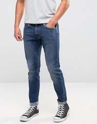 Зауженные джинсы с подвернутой кромкой Edwin ED-85 - Синий